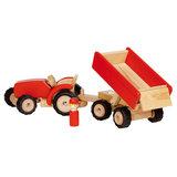 Houten Tractor met Aanhanger_
