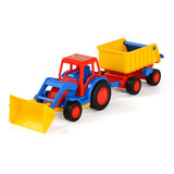 Polesie Basics Tractor met Shovel en Trailer_