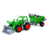 Polesie Tractor met Voorlader en Aanhanger_
