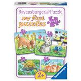 Schattige Huisdieren Puzzel, 4in1_