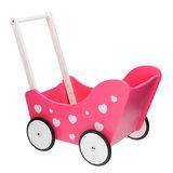 Poppenwagen Roze met Hartjes_