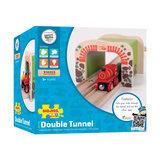 Houten Rails - Dubbelspoor Tunnel_