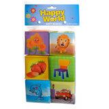 Happy World Zachte Blokken, 6st_