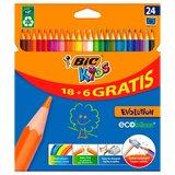 BIC Kids ECOlutions Evolution, 18 + 6st. gratis_