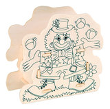 Maak je eigen Houten Spaarpot Clown_