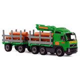 Polesie Volvo Houttransport Vrachtwagen met Aanhanger_
