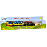 Houten Autotransporttrein, incl. 2 auto's_