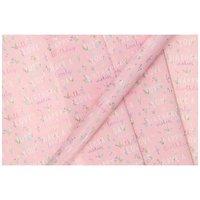 Inpakpapier Roze Happy Birtday, 3mtr.