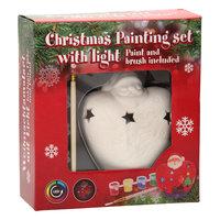 Schilderset Kerst met LED, 8dlg.