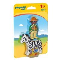Playmobil 9257 Verzorger met Zebra