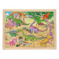 Houten Puzzel - Dinowereld, 24st.