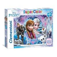 Clementoni Glitter Puzzel Disney Frozen, 104st.