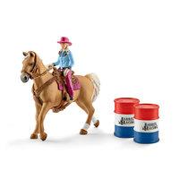 Schleich Barrel Racing met Cowgirl