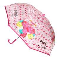 Flamingo Transparante Paraplu