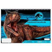 Jurassic World Schetsboek A4 + Stencils & Stickers