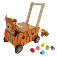 I'm Toy Loop- en Duwwagen Tijger met Trekfiguur