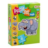 Puzzelset Jungle met 6 Puzzels