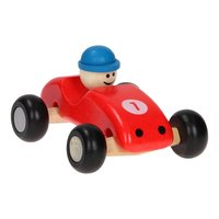 Houten Raceauto Rood