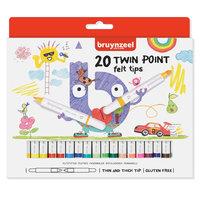 Bruynzeel Kids Twin Point Viltstiften, 20st.