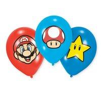 Super Mario Latex Ballonnen, 6st.