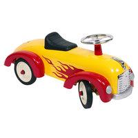 Loopauto Geel met Vlammenpatroon
