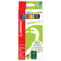STABILO GREENcolors kleurpotloden, 12st.