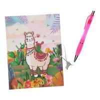 Dagboek met Slot & Pen - Alpaca