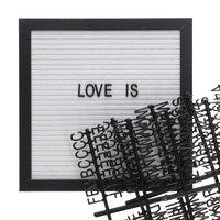 Letterbord Zwarte Lijst - 25x25 cm