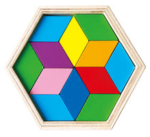 Tangrampuzzel Hout, 12dlg.