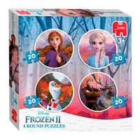 Disney Frozen 2 - Ronde Puzzel, 4in1