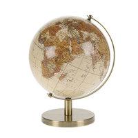 Wereldbol op Voet Creme, 17cm