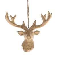 Hanger Hertenkop Goud, 13,5cm