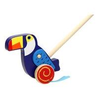 Houten Duwfiguur - Toucan