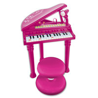 Bontempi Piano met Microfoon en Krukje Roze