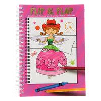 Flip Flap Kleurboek - Roze