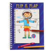 Flip Flap Kleurboek - Blauw