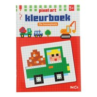 Pixel Art Kleurboek - Bouwplaats