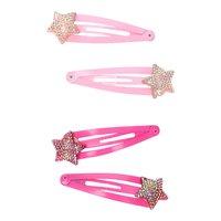 Haarknipjes Glitter Ster, 4st.