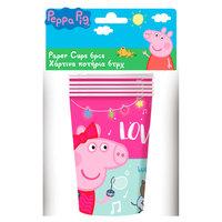 Peppa Pig Bekers, 6st.