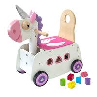 I'm Toy Loop- en Duwwagen Eenhoorn