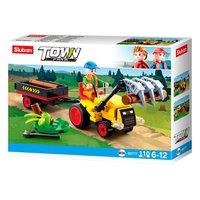 Sluban - Traktor met Boomstammen