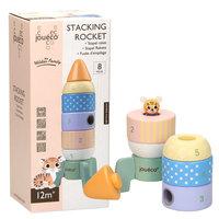 Joueco Houten Stapel Raket