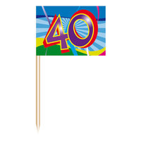Cocktailprikkers - 40 jaar, 50st.