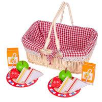 Houten Picknickset in Mandje