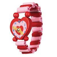 Houten Horloge - Hart