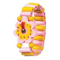 Horloge Hout Bloem