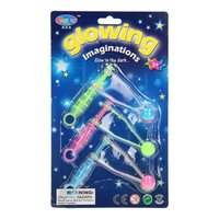 Klik-klakballetjes Glow in the Dark, 3st