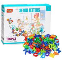 Bouw- en Rijgset Letters, 120dlg.