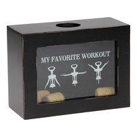 Wijnkurken Spaarpot 'My Favorite Workout'