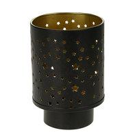 Waxinelichthouder Yves Metaal Zwart/Goud, 13cm